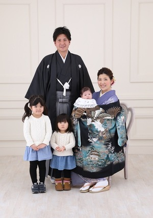 鎌倉家族撮影 お宮参り スタジオ写真