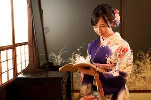 成人式 ママ振袖 前撮り アンティーク フォトスタジオ  鎌倉 2