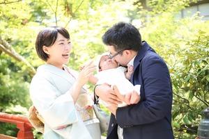 鶴岡八幡宮お宮参り 鎌倉屋外撮影