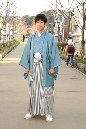 鎌倉小学生卒業袴男児14