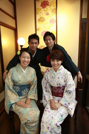 鎌倉散策着物1