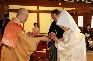 円覚寺結婚式写真数珠授与方丈