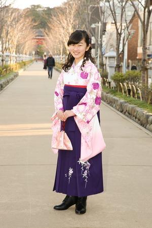 鎌倉小学生卒業袴女児5