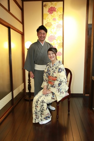 鎌倉散策着物2