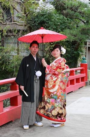 鎌倉婚礼前撮り写真色打掛