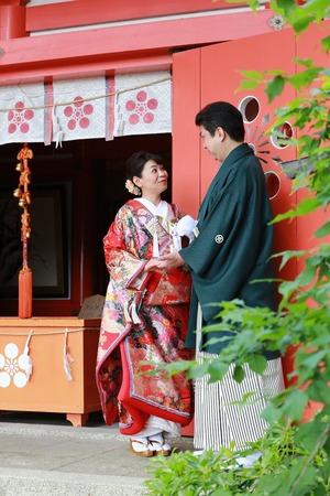 鎌倉和装 奉告祭 鎌倉前撮り撮影