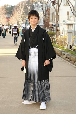 鎌倉小学生卒業袴男児19