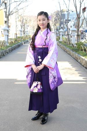 鎌倉小学生卒業袴 女児 (8)