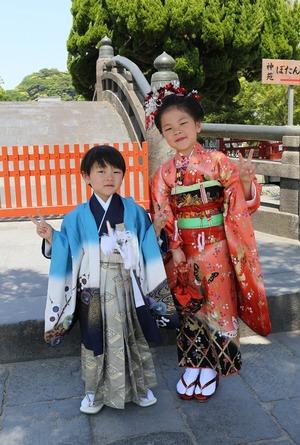 鎌倉753 鎌倉ロケーション撮影 八幡宮お参り 鎌倉記念写真