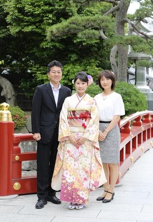 鎌倉成人振袖前撮りロケーション家族写真