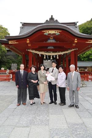 鎌倉お宮参り屋外ロケーション撮影