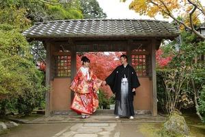 鎌倉婚礼前撮り海蔵寺1
