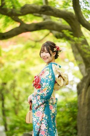 成人式 振袖 前撮り 神社 ロケーションフォト11