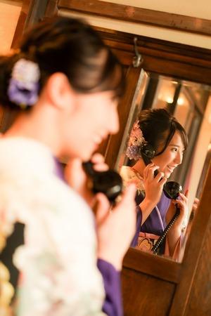 成人式 ママ振袖 前撮り アンティーク フォトスタジオ  鎌倉 6