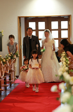 カトリック由比ガ浜教会結婚式3-1