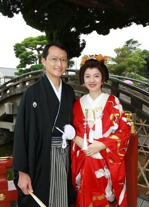 鶴岡八幡宮結婚式色打掛