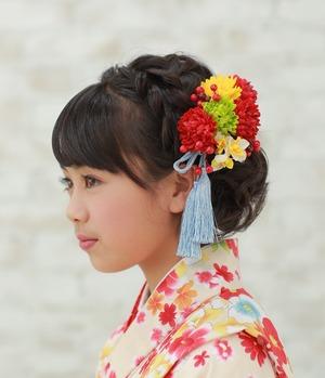 髪飾りペア赤