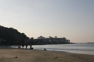 鎌倉材木座海岸お正月