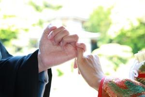 新緑屋外撮影 鎌倉結婚式 約束