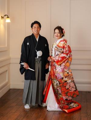 鎌倉宮結婚式 色打掛 写真スタジオ