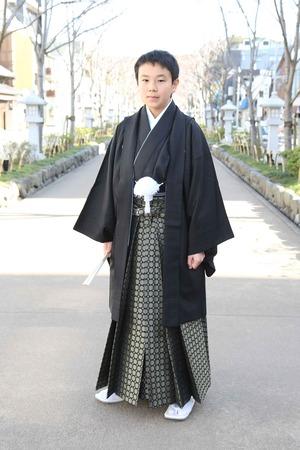 鎌倉小学生卒業袴 男児  (8)