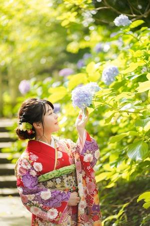 成人式前撮り 紫陽花 アジサイ ロケーションフォト 6
