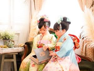 鎌倉七五三7歳写真 前撮り  双子でお祝い 3