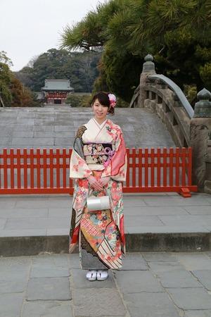 鎌倉成人式振袖ロケーション撮影