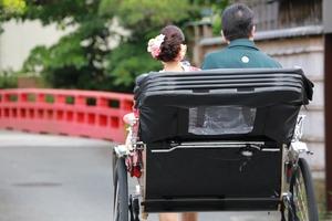 鎌倉前撮り 色打掛 紋服 人力車
