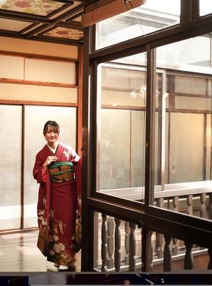 鎌倉 成人式 振袖前撮り ロケーションフォト