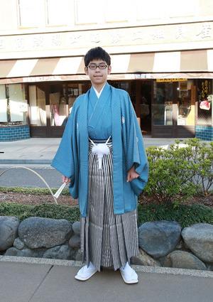 鎌倉小学生卒業袴 青色