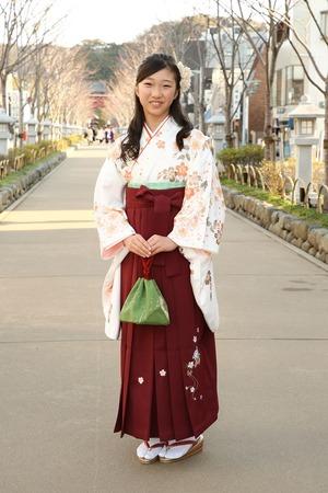 鎌倉小学生卒業袴女児14