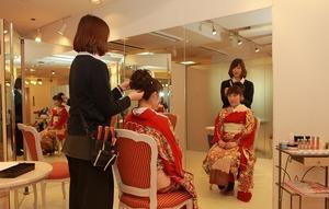 鎌倉振袖レンタルヘアメイク着付け
