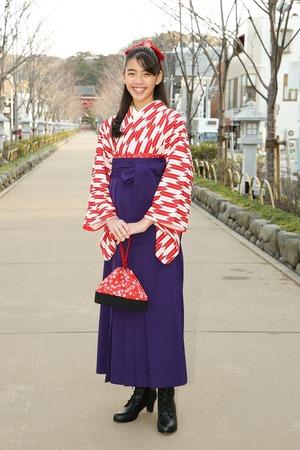 鎌倉小学生卒業袴女児11