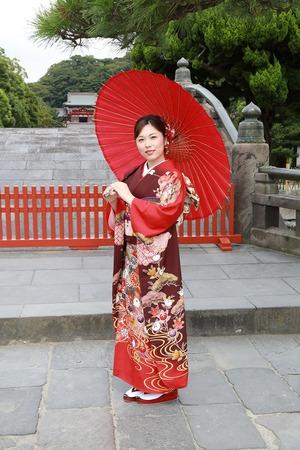 鶴岡八幡宮成人式振袖写真1