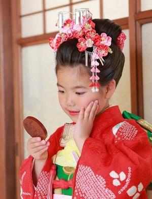 鎌倉七五三7歳日本髪写真和室スタジオ