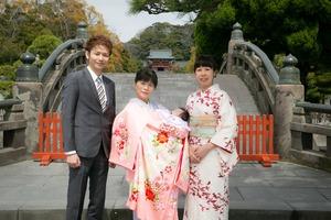 鶴岡八幡宮 お宮参り写真館 屋外撮影