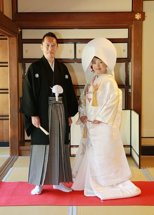 円覚寺結婚式写真新郎新婦
