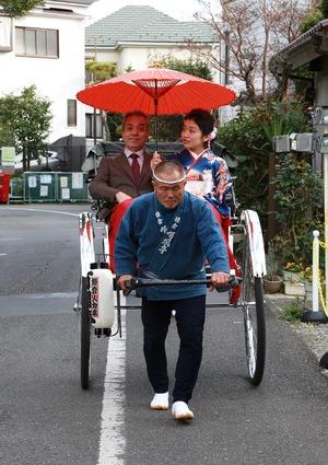 鎌倉 振袖前撮り 人力車ロケーション撮影
