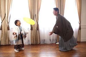 鎌倉5歳お祝い 5歳家族写真 5歳着物