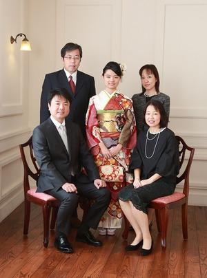 成人前撮り家族写真 神奈川県鎌倉市