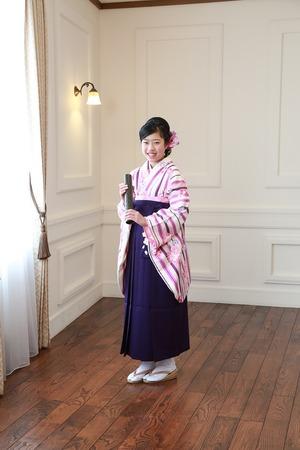 鎌倉小学生卒業袴写真