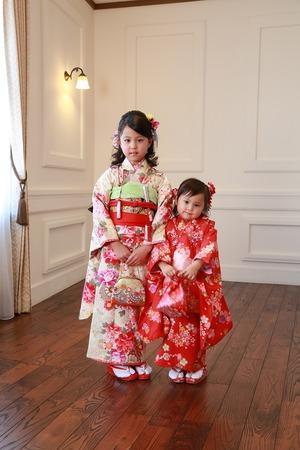 鎌倉七五三姉妹写真