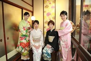 鎌倉結婚式列席衣裳写真