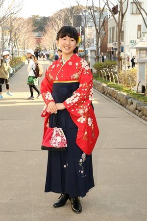 鎌倉小学生卒業袴女児17