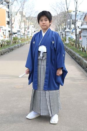 鎌倉小学生卒業袴 男児  (14)