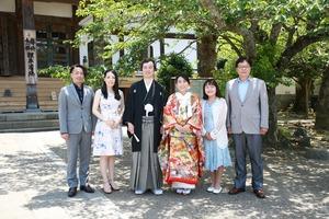 屋外人力車 鎌倉家族写真 記念写真