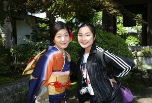 鎌倉振袖ロケーション写真友達