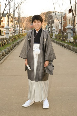 鎌倉小学生卒業袴男児5