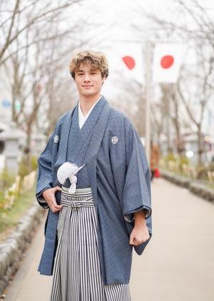 鎌倉成人式 男袴 写真撮影1